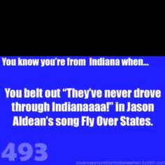 Ha true.. And I do this, every single time #noshame #indiana #proudhoosier