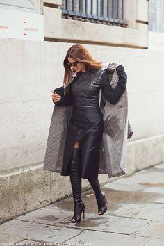 Christine Centenera ( Leather Boots Skirts )