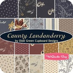 County Londonderry Fat Quarter Bundle Olde Green Cupboard Designs for Marcus Brothers Fabrics