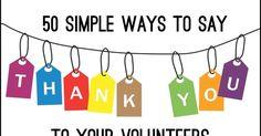volunteer appreciation, volunteers, volunteer appreciation ideas, thank you for volunteers