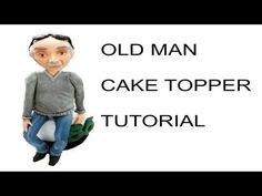 Sculpting old man with fondant cake topper - tutorial viso e corpo uomo pasta di zucchero - YouTube