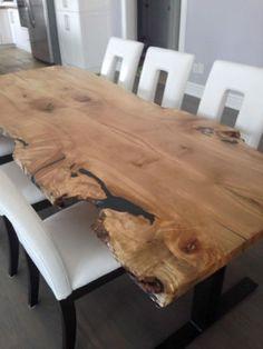 COM CUSTOM LIVE EDGE HARVEST TABLE 705.607.0787   Pinterest   Wood Slab,  Wood Table And Harvest Tables