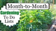 Month to Month Gardening To Do Lists.  Must read - both funny and informative.