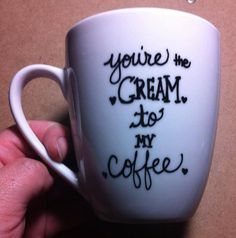 Youre the cream to my coffee love mug. #coffee #quotes