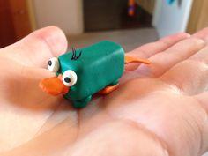 Perry the Platypus/Perry het vogelbekdier (handmade/zelfgemaakt)