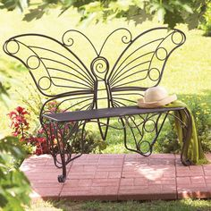 This Butterfly Bench Would Be Gorgeous Under A Nice Shady Tree
