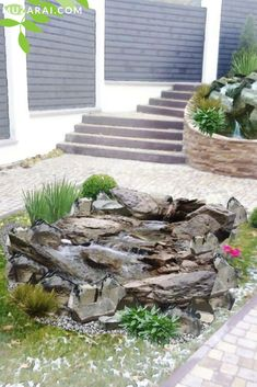Land Scape, Firewood, Texture, Plants, Gardens, Scenery, Water Pond, Waterfall, Lawn And Garden