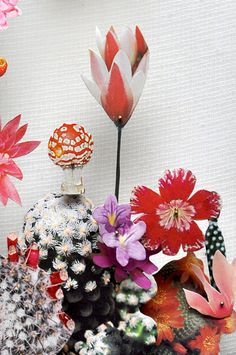 Love Anne Ten Donkelaar's new lens for Flower constructions from pic cut-outs and pins!
