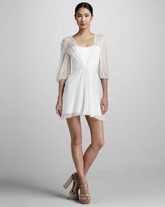 Gojee - Sheer Chiffon Dress by Pamella Roland