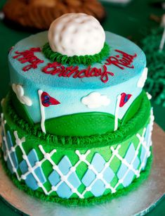 golf party cake idea