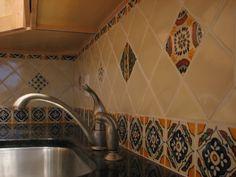 talavera tile kitchen countertop | mexican style tile | small