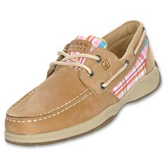 Comfortable options with season-inspired colors that will fit every fashion wave you may be riding. Features 360 lacing with slip on, boat shoe style and durable rubber sole.