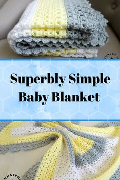 [Free Pattern] Superbly Simple Baby Blanket For Mindless Crocheting In Front Of The Tv - Knit And Crochet Daily - Diy Crafts Crochet Baby Blanket Beginner, Crochet Baby Blanket Free Pattern, Easy Baby Blanket, Afghan Crochet Patterns, Free Crochet, Knit Crochet, Baby Blankets, Crocheted Afghans, Crochet Blankets