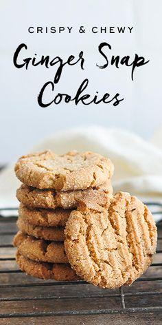 Ginger Snap Cookies #gingersnaps #cookies #gingerbread #rachelallen