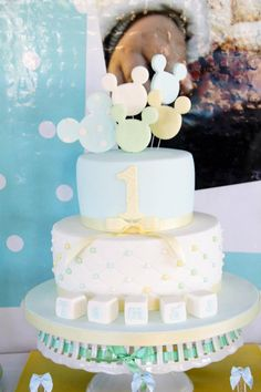 Baby Mickey Mouse 1st Birthday Party with So Many Cute Ideas via Kara's Party Ideas Kara Allen KarasPartyIdeas.com #mickeymouseparty