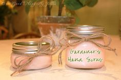 Great Teacher Gift idea....Gardener's Hand Scrub.  SUPER easy to make! The kids could do it!