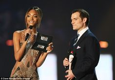 Henry Cavill and Jourdan Dunn team up to present at the 2016 BRIT Awards | Daily Mail Online