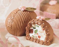 Gardners Candy Fruit and Nut Egg. This is a 1lb fruit and nut egg coverd in milk chocolate. Delicious Cherries