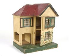 Triang Dolls House Hinged At Front Antique Dollhouse, Antique Dolls, Vintage Dolls, Vintage Stuff, Dolls House Shop, Doll Houses, Old Dolls, Childhood Toys, Miniature Houses