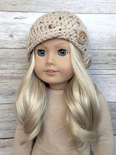 DIY Crochet Pattern  18 inch Doll Button Cloche Hat PDF 27