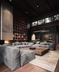 Rustic Modern House Interior Rich & Exquisite Modern Rustic Home Interior