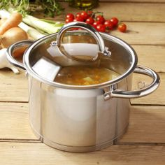 Professional Steel Stockpot & Lid 24cm / 7.2L | ProCook Professional Steel from ProCook