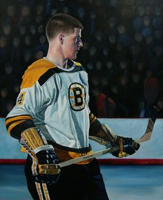 Great young Bobby Orr painting by Canadian professional sports artist Tony Harris | Found at www.chaseart.ca | Boston Bruins | NHL | Hockey