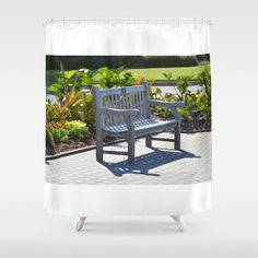 An Empty Bench Shower Curtain by Lanjee  http://society6.com/product/an-empty-bench-4ov_shower-curtain  http://society6.com/product/an-empty-bench-4ov_shower-curtain