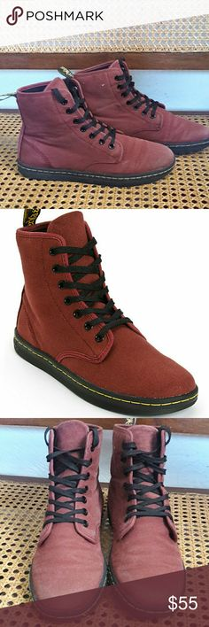 Dr Martens boots maroon n size 8 Very cute in good used conditions  Very cute boots !  Checkout my listings for more awesome stuff! Dr. Martens Shoes Combat & Moto Boots