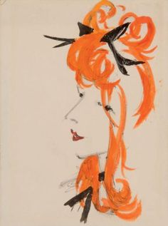 DIGNIMONT André (1891-1965) <br /> <br /> The pretty redhead watercolor, ink and enc