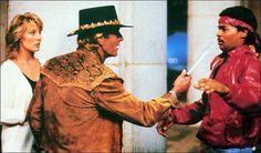 """Mick. He's got a knife!"" ""Nahh. That's not a knife...this is a knife!"" -Crocodile Dundee"