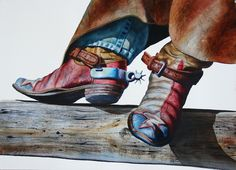 Lone Star Boots - Pitzer's Fine Arts - Exceptional Artists