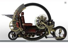 steampunk automobile | steampunk side-car right view