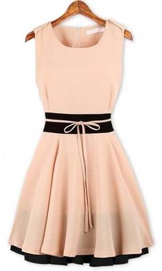 Light Pink + Black Dress