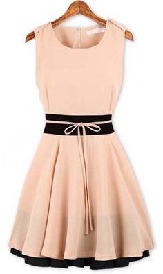 Light Pink + Black Dress