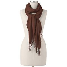Pinecone Brown Apt. 9 Twill Scarf for the girls to wear outside during pictures