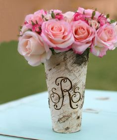 Look at this Monogram Birch Vase on #zulily today!