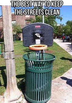 I have been thinking about this for up at the property to hopefully get more bottles & trash into the garbage & recycle.