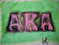 """AKA"" Drawing/Watercolor 2015 by indiaSheana www.indiaSheana.com"