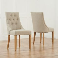 Torino Grey Upholstered Scoop Back Dining Chair with Natural Legs