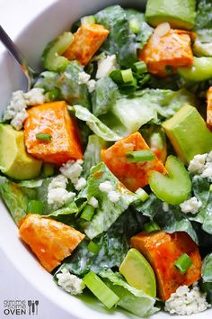 Buffalo Chicken Salad with a Blue Cheese Dressing
