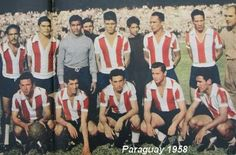 Paraguay team group at the 1958 World Cup Finals.