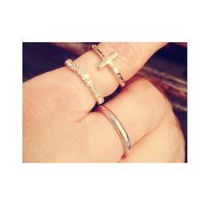 Cross & pinky ring
