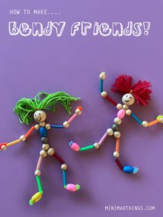 Most current Free pipe cleaner Crafts for Kids Popular There are a few very easy crafts intended for kids. Most they want are a couple of provides just lik Craft Kits For Kids, Fun Crafts For Kids, Toddler Crafts, Creative Crafts, Preschool Crafts, Projects For Kids, Diy For Kids, Craft Activities, Doll Crafts