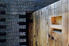 Sauna Savu Outdoor Sauna, Outdoor Decor, Mobile Sauna, Finnish Sauna, Charred Wood, Hot Springs, Landscape Architecture, Waterfall, Sauna Ideas