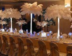 Centre de table en plumes