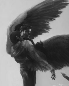 Gorgeous Destiel art- I wish I could give credit to the artist. Please let me know if you have a name/link.