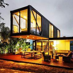 dbfa9fd955e29ec39a57b1cb846ede5f Ideias: Casas e construções feitas com containers arquitetura construcao container design fotos novidades sustentabilidade-2