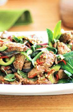 Thai lamb salad -- Low FODMAP Recipe and Gluten Free Recipe #lowfodmaprecipe #glutenfreerecipe #lowfodmap #glutenfree http://www.ibs-health.com/low_fodmap_thai_lamb_salad.html