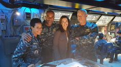 Behind the scenes in the CIC.  Where's Kara?? The Last Ship